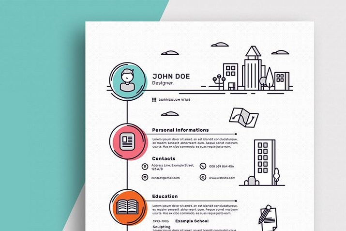 50 best cv resume templates of 2018 design shack