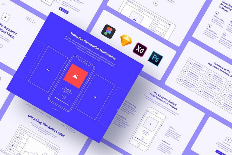 Sketch Website Wireframe Templates