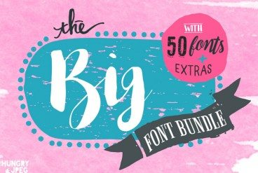 "Introducing the ""Big 50 Font Bundle"": This Month Only"