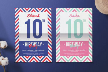 25+ Best Christmas & Birthday Party Flyer Templates