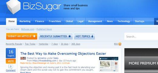 BizSugar Home Page