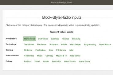 How to Create Unique Block-Style Radio Inputs With jQuery