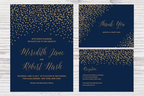 90+ gorgeous wedding invitation templates | design shack, Wedding invitations