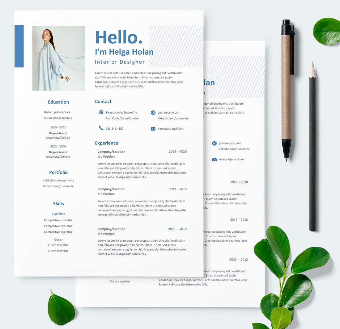 resume colors