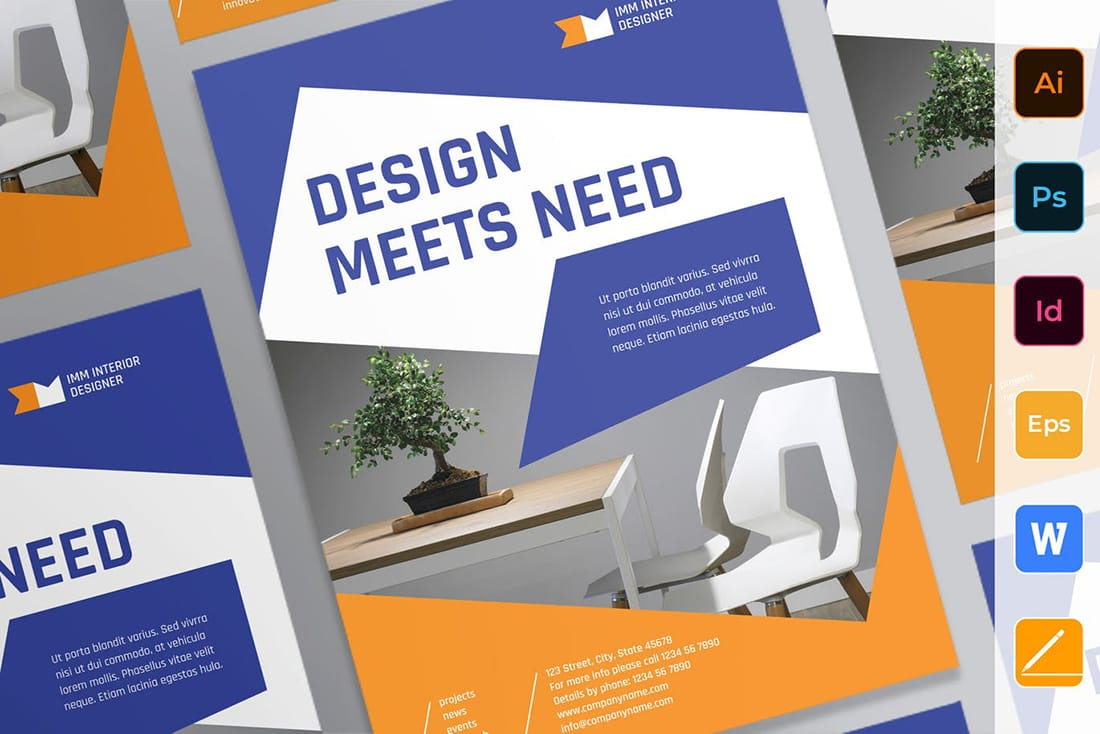 bluegold-poster 20 Stylish Poster Color Schemes design tips