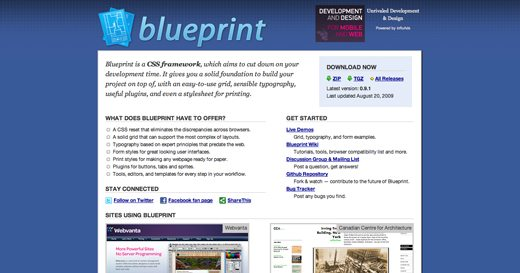 Rapid blueprint css layout with boks design shack just to brief you blueprint is a free framework with tons of great features these include malvernweather Choice Image