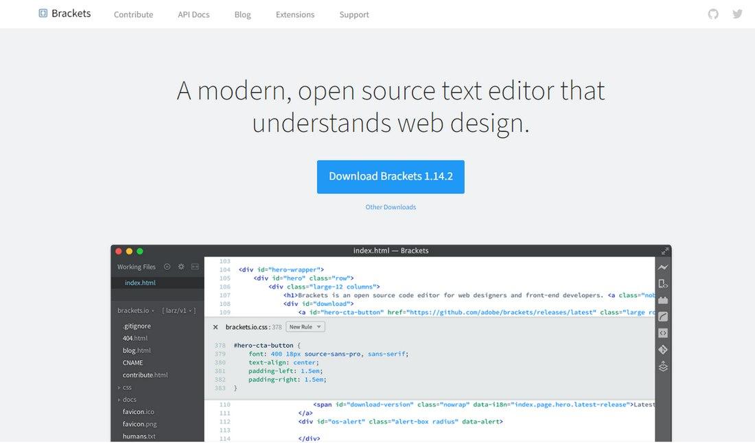 brackets 8 Best Code Editors for Designers in 2020 (Free & Premium) design tips