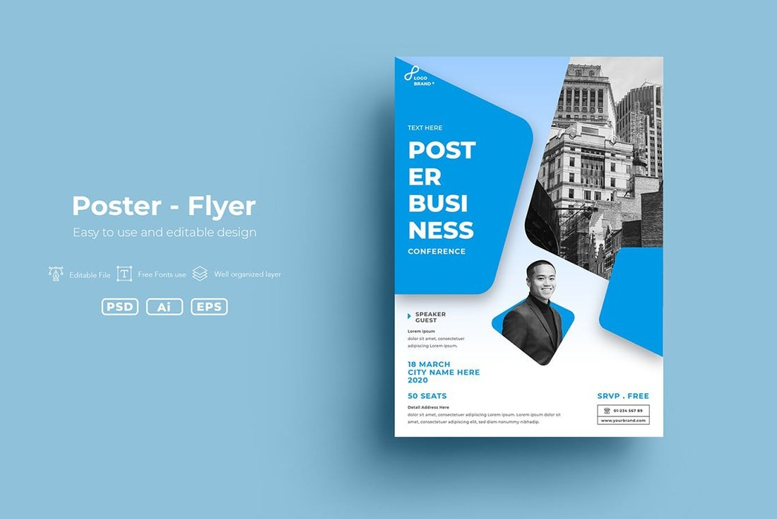 bright-blue 20 Stylish Poster Color Schemes design tips