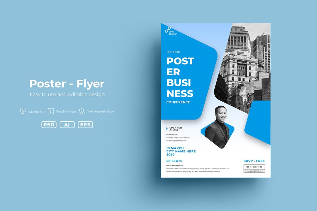 bright-blue 20 Stylish Poster Color Schemes design tips  Inspiration|color|posters