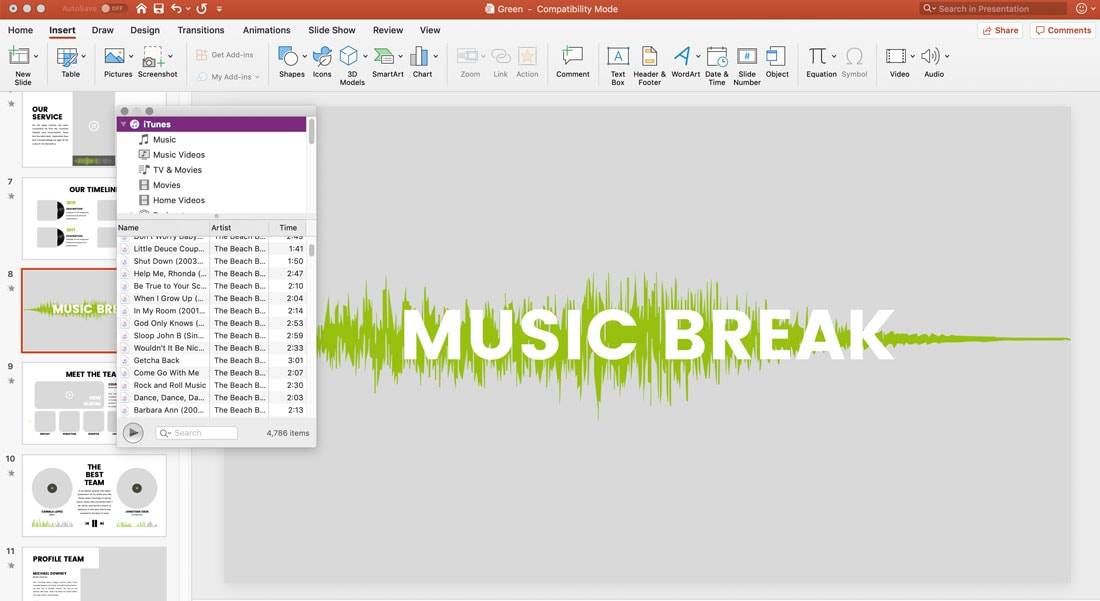 add music to powerpoint