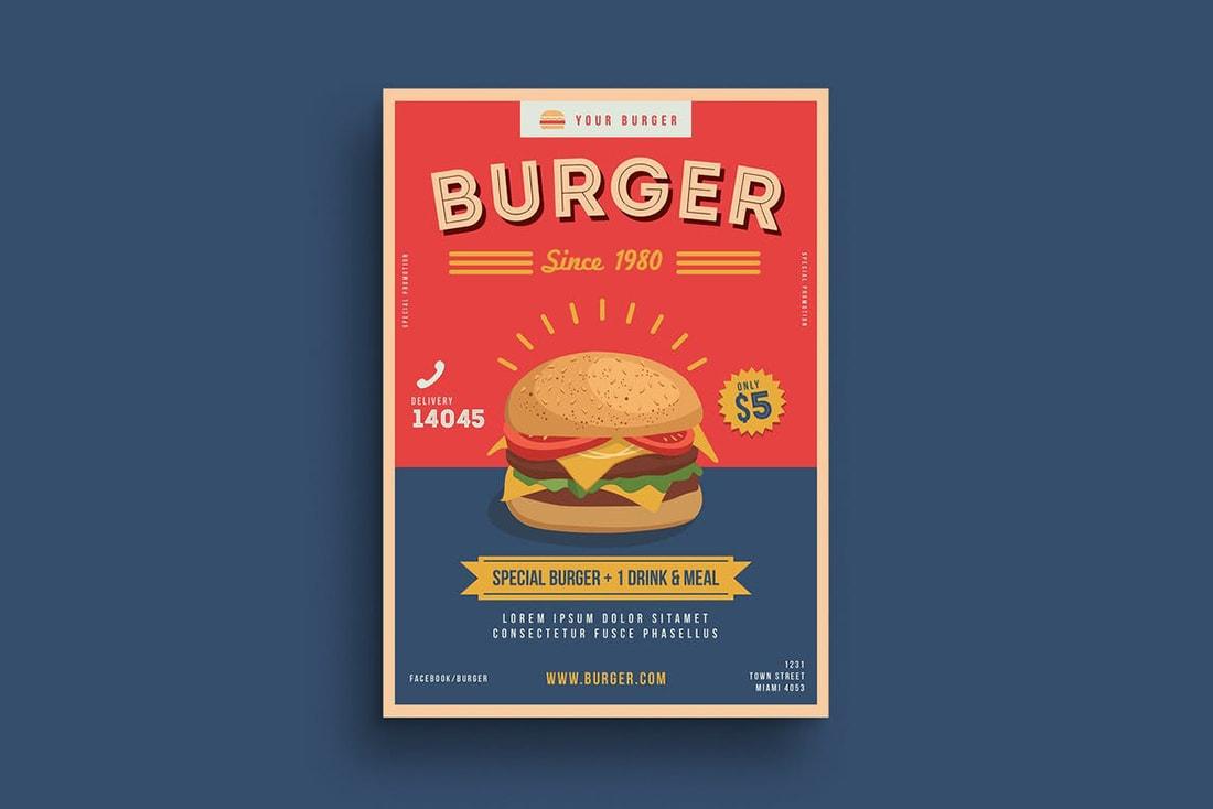 burger-poster 20 Stylish Poster Color Schemes design tips