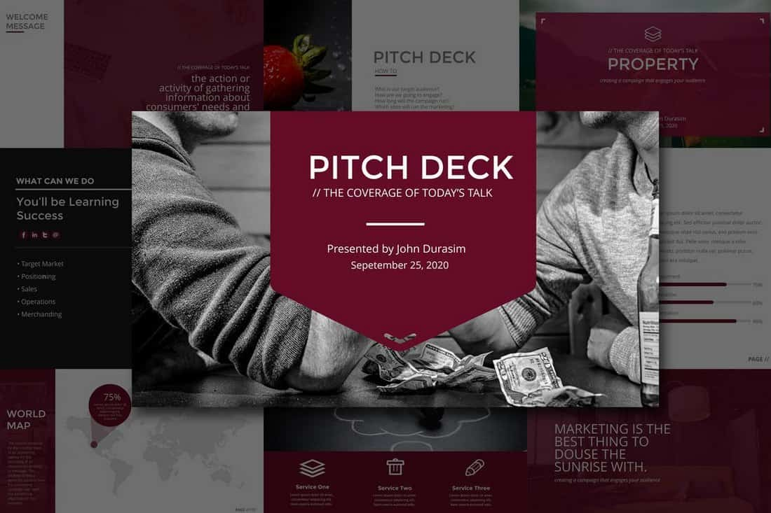 Business-Startup Pitch Deck Modèle pour PowerPoint