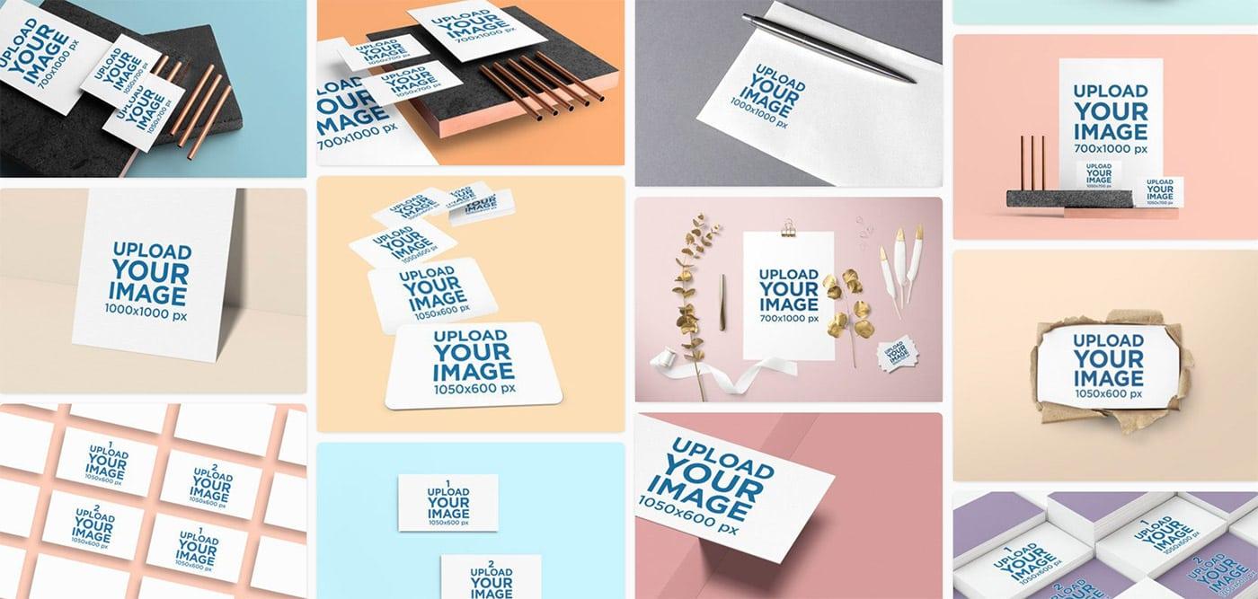 Business Card Mockup Templates Free