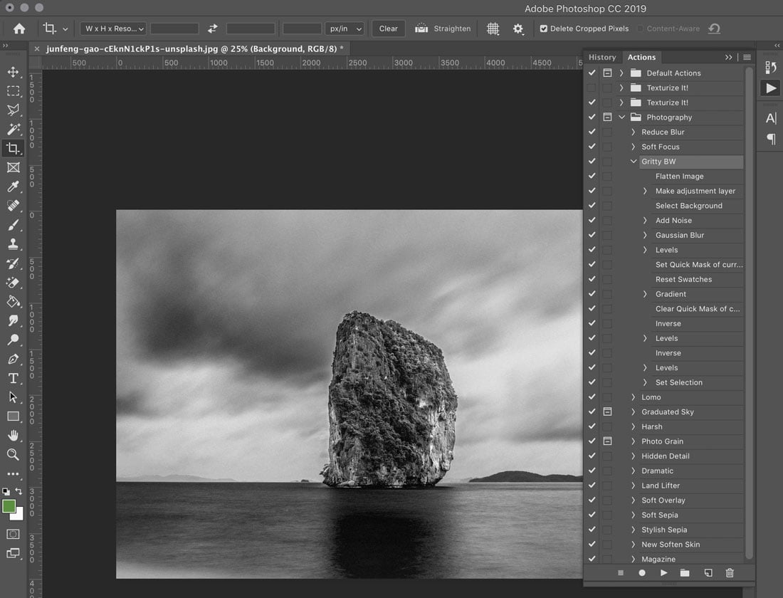 how to export photoshop action