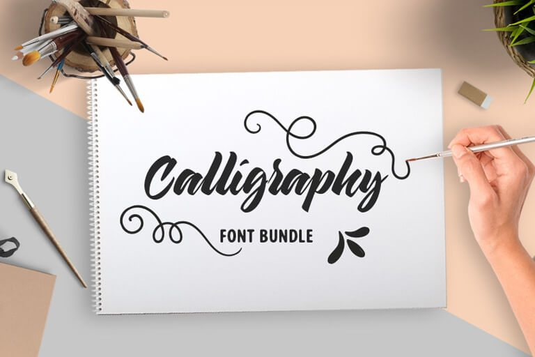 Save 94% on the calligraphy fonts bundle design shack