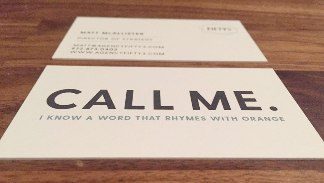 callme What to Put on a Business Card: 8 Creative Ideas design tips