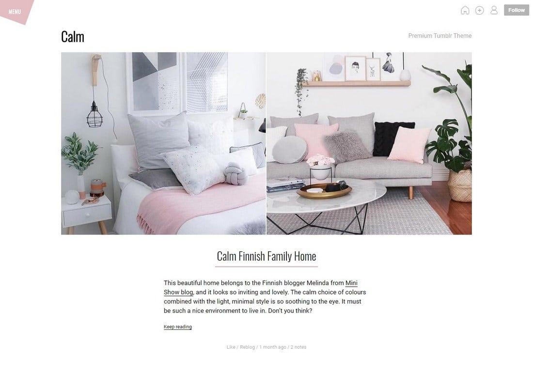 calm-tumblr-theme 50+ Best Free & Premium Tumblr Themes 2018 design tips