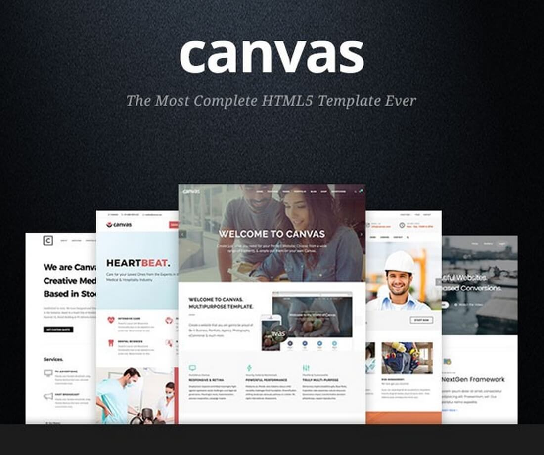 20 corporate business html templates design shack canvas multi purpose html5 template cheaphphosting Images
