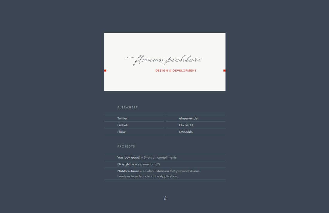 vcard websites