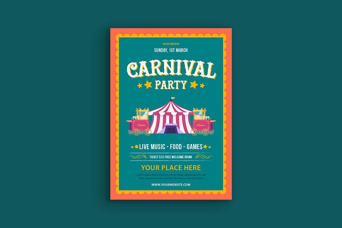 carnival-poster 20 Stylish Poster Color Schemes design tips