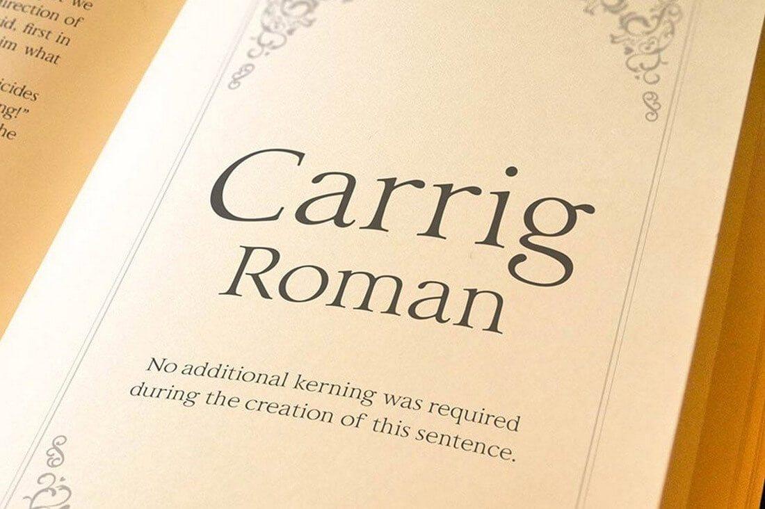 carrig-roman-1160x772-a- 100+ Best Modern Serif Fonts design tips