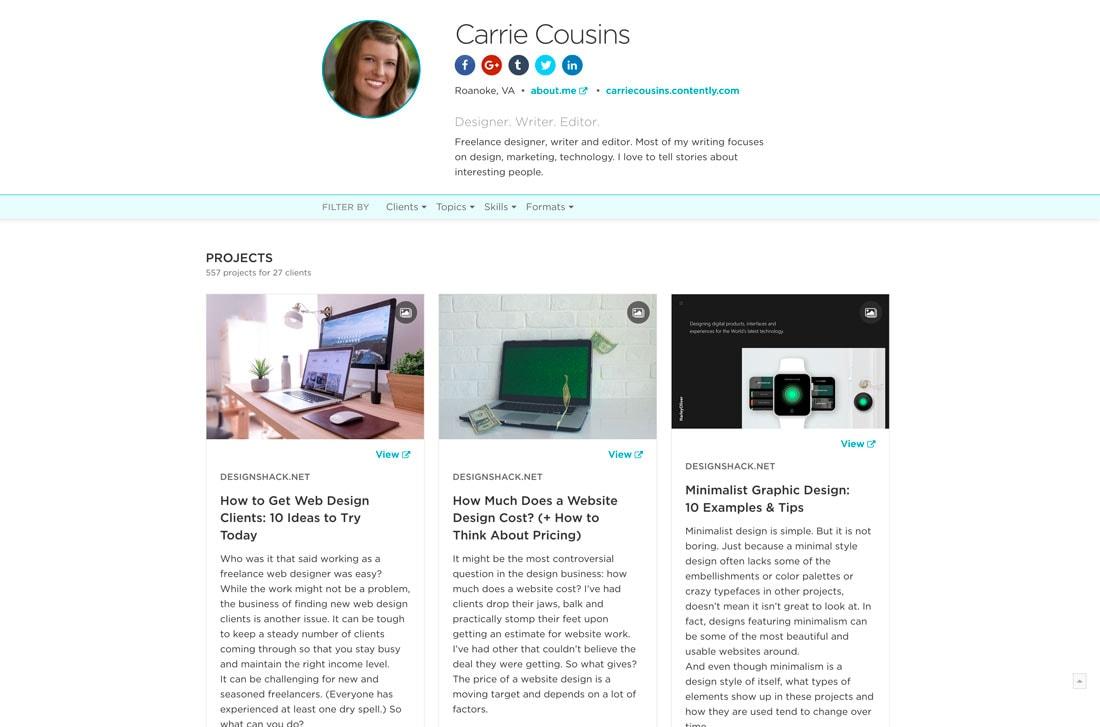 site Web de portfolio gratuit