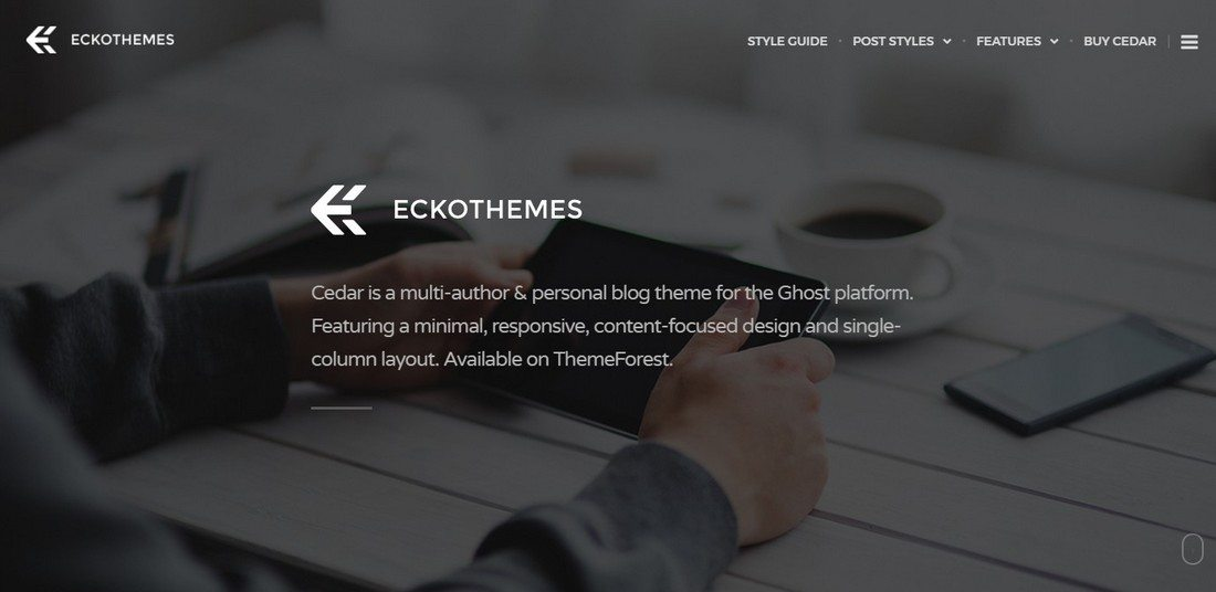 30 Beautifully Designed Ghost Themes 2