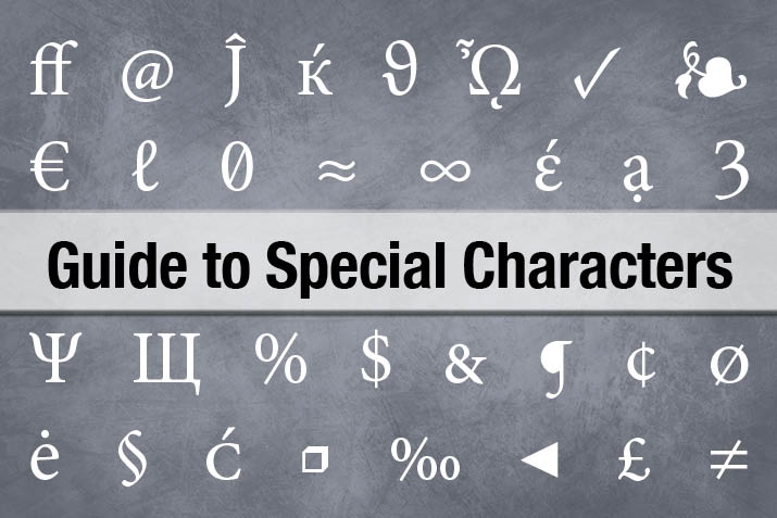 The Complete Guide to Special Characters | Design Shack