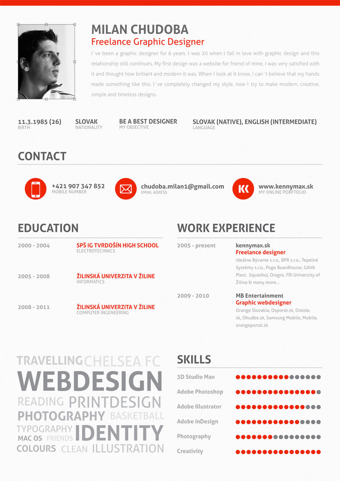 Freelance Resume  Resume For Designers