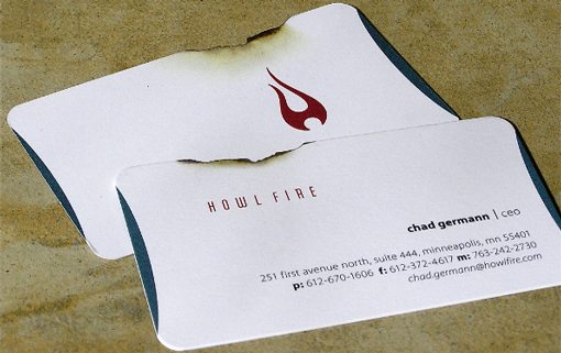 50 incredibly clever business card designs design shack this one is a good combination of a special cut and clever design the jagged edge combined with the graphics make it look like the card was burned colourmoves