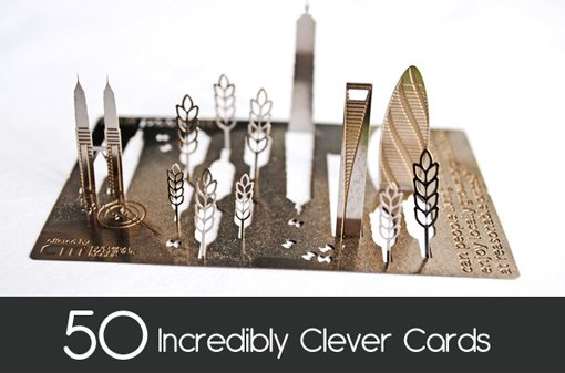 clevercards 99 50 Thiết Kế Danh Thiếp Sáng Tạo Đến Khó Tin