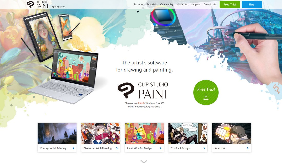 clip-studio-paint- Best Drawing Software for Digital Artists (PC & Mac) design tips