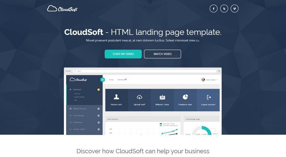 Clean Minimal Landing Page Templates Design Shack - Website splash page templates