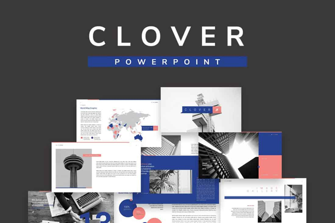 clover 20 Stylish PowerPoint Color Schemes design tips