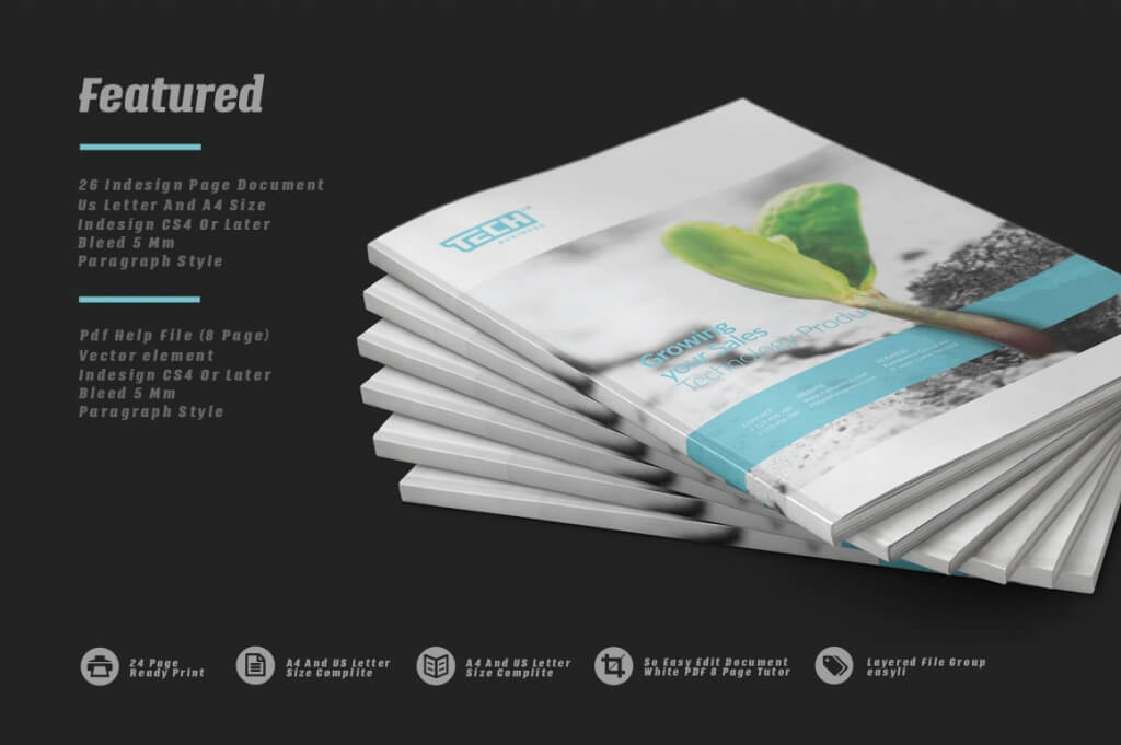70 modern corporate brochure templates design shack for Product design companies