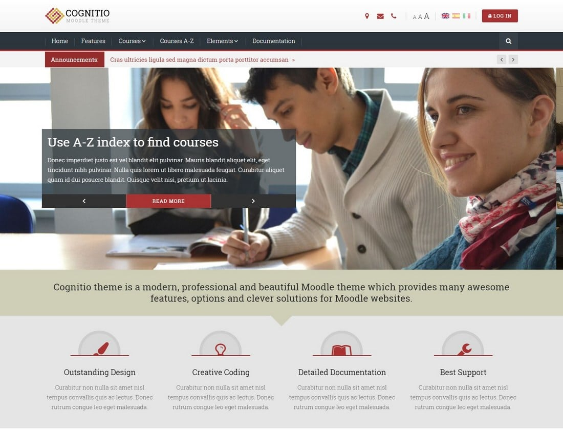 cognitio-moodle-theme 15+ Best Moodle Themes of 2019 design tips