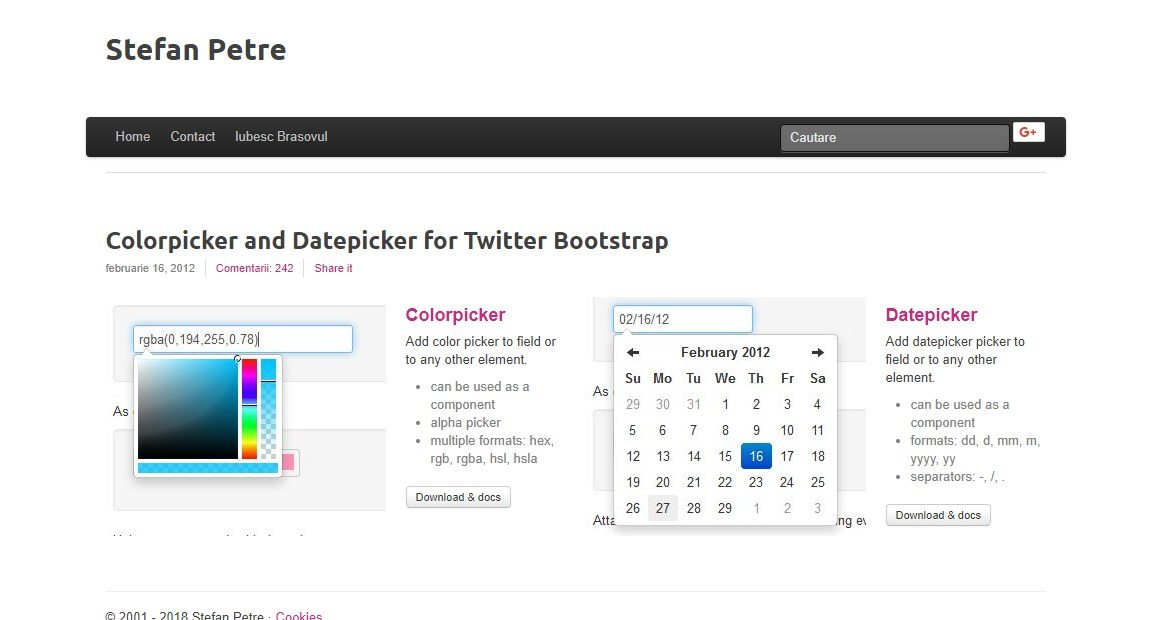color-picker 20+ Awesome Resources for Bootstrap Lovers design tips