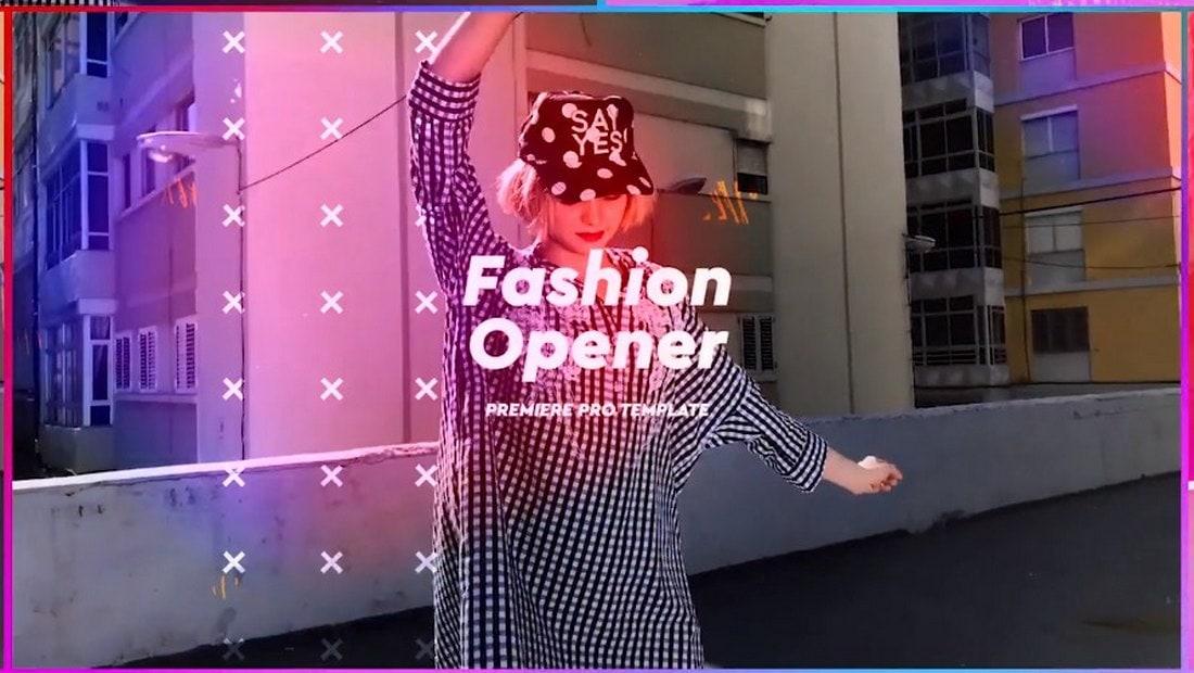 colorful fashion - premiere pro intro template