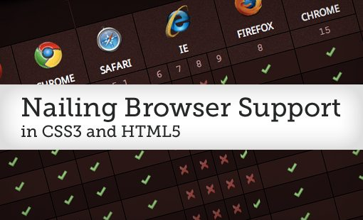 Nailing Browser Support in CSS3 and HTML5: Invaluable Resources to Use Today