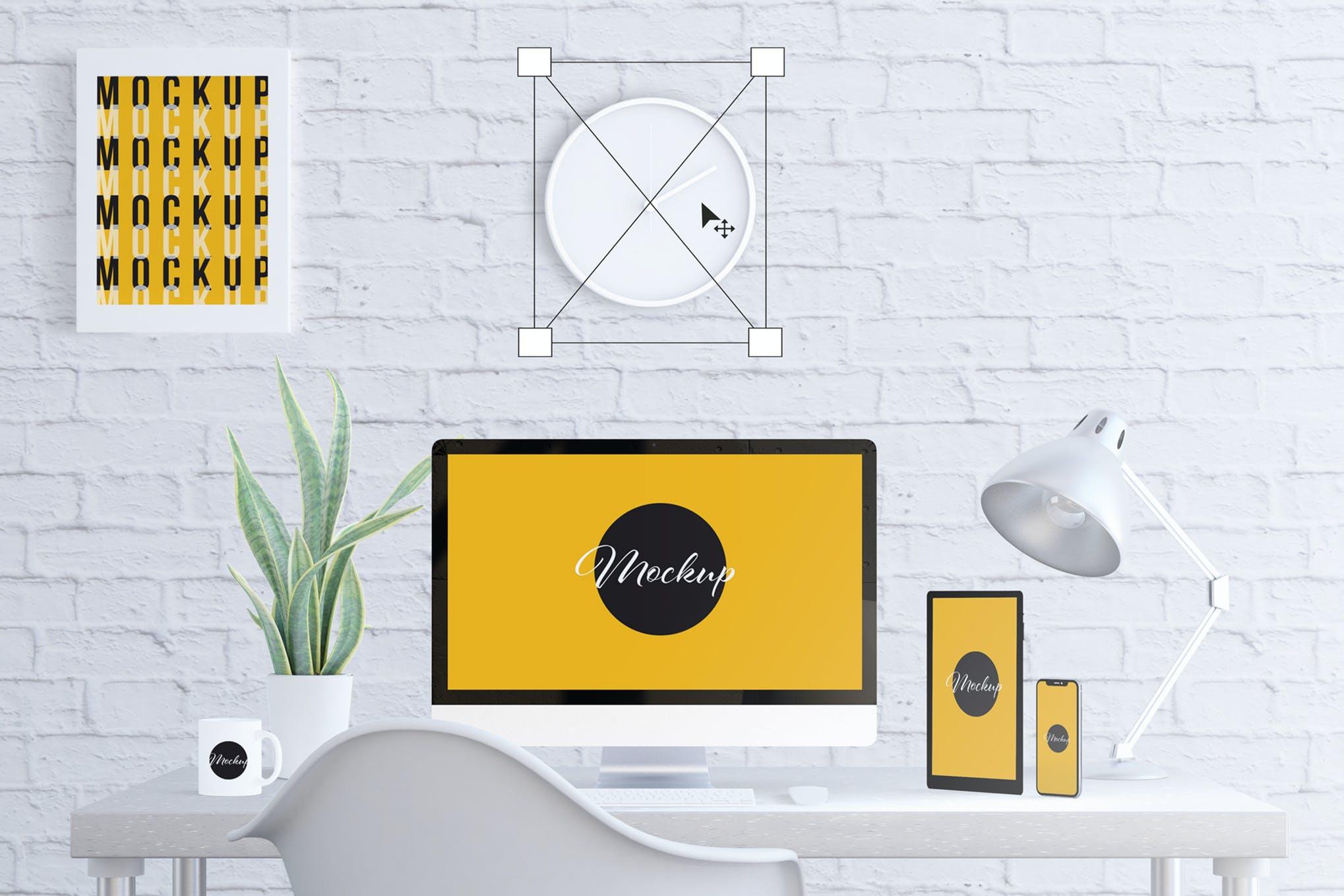 computer desktop mockup