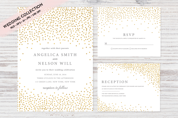 Gorgeous Wedding Invitation Templates Design Shack - Wedding invitation templates: wedding invitation suite templates