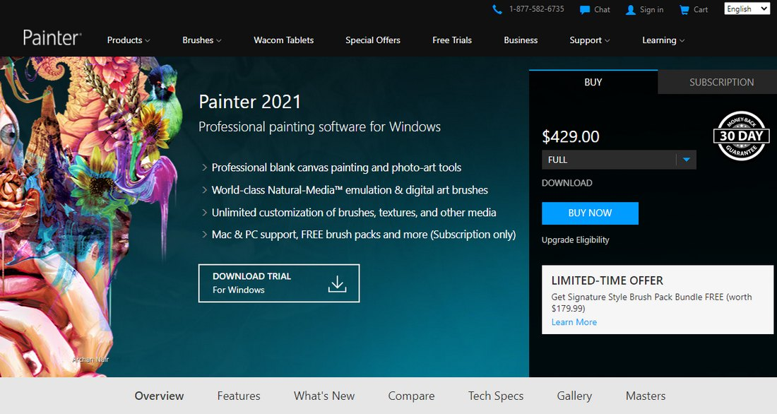 corel-painter- Best Drawing Software for Digital Artists (PC & Mac) design tips