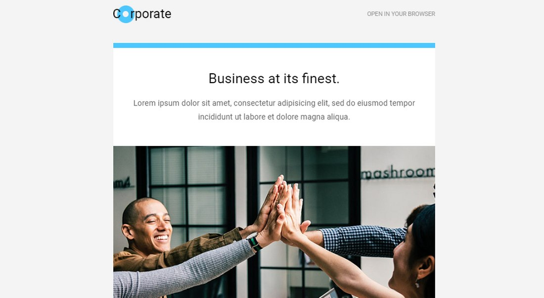 corporate-free-email-newsletter-template 20+ Best MailChimp Email Newsletter Templates (Free + Premium) 2021 design tips