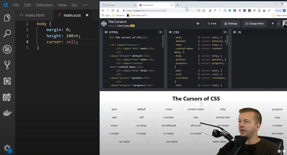 creating custom cursors yt