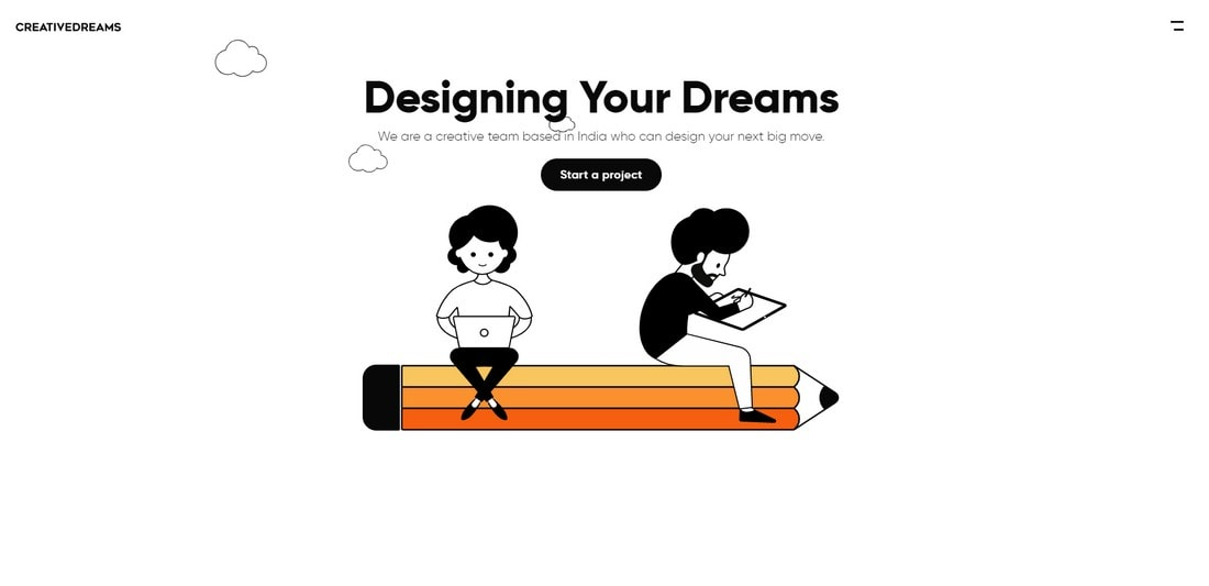 creativedreams 15+ Creative Website Header Design Examples + Tips design tips  Layouts