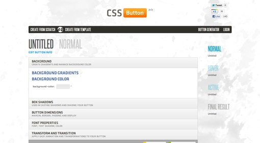 Cssbuttonapp-4 in Create Amazing CSS Buttons on the Fly With CSSButton.Me