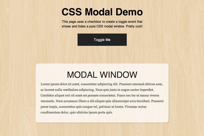Build an Adaptive CSS Modal Window