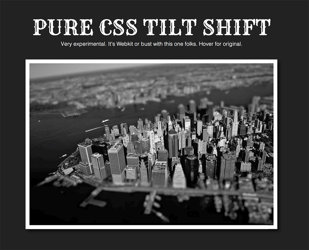 css tilt shift