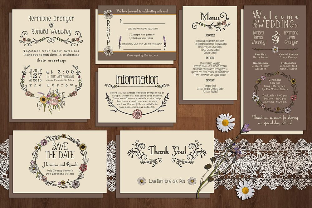 50 Examples Of Wonderfully Designed Wedding Invitations | Design Shack