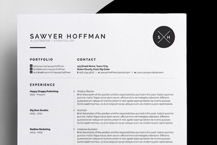 how to customize a resume or cv template